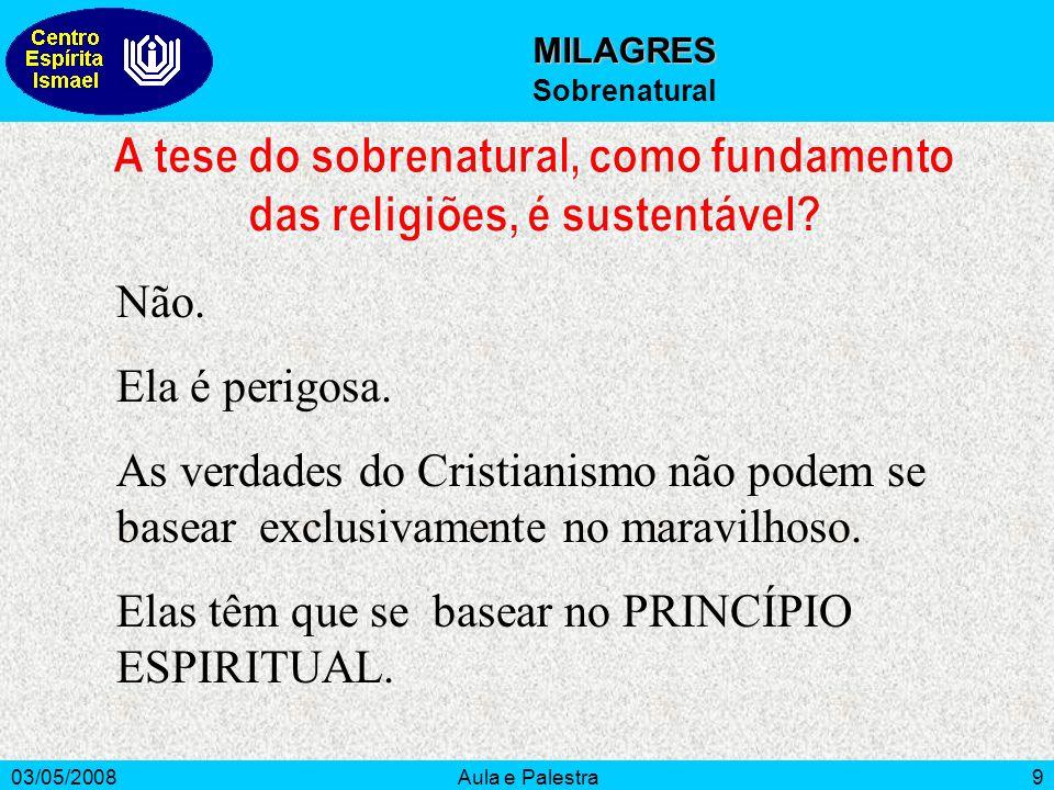 A tese do sobrenatural, como fundamento das religiões, é sustentável