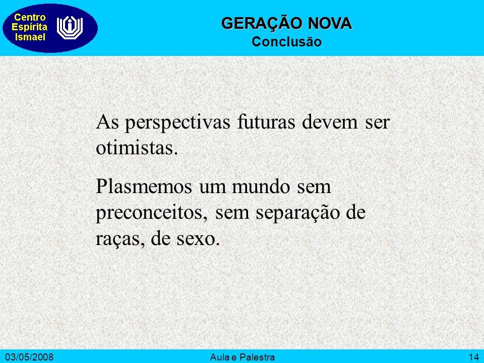 As perspectivas futuras devem ser otimistas.