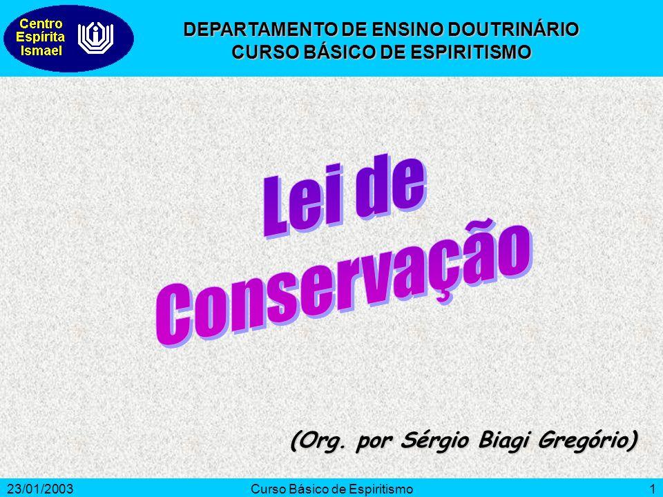 Lei de Conservação (Org. por Sérgio Biagi Gregório)