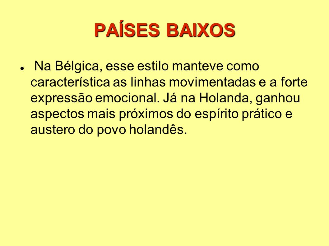 PAÍSES BAIXOS