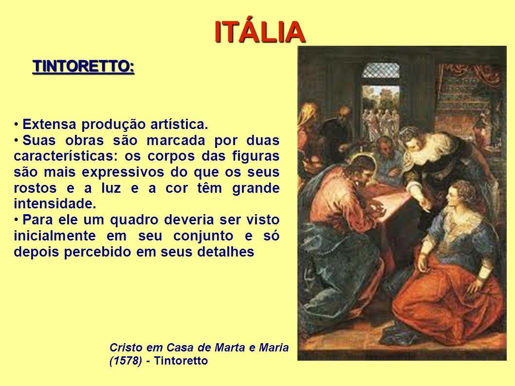 ITÁLIA TINTORETTO: Extensa produção artística.