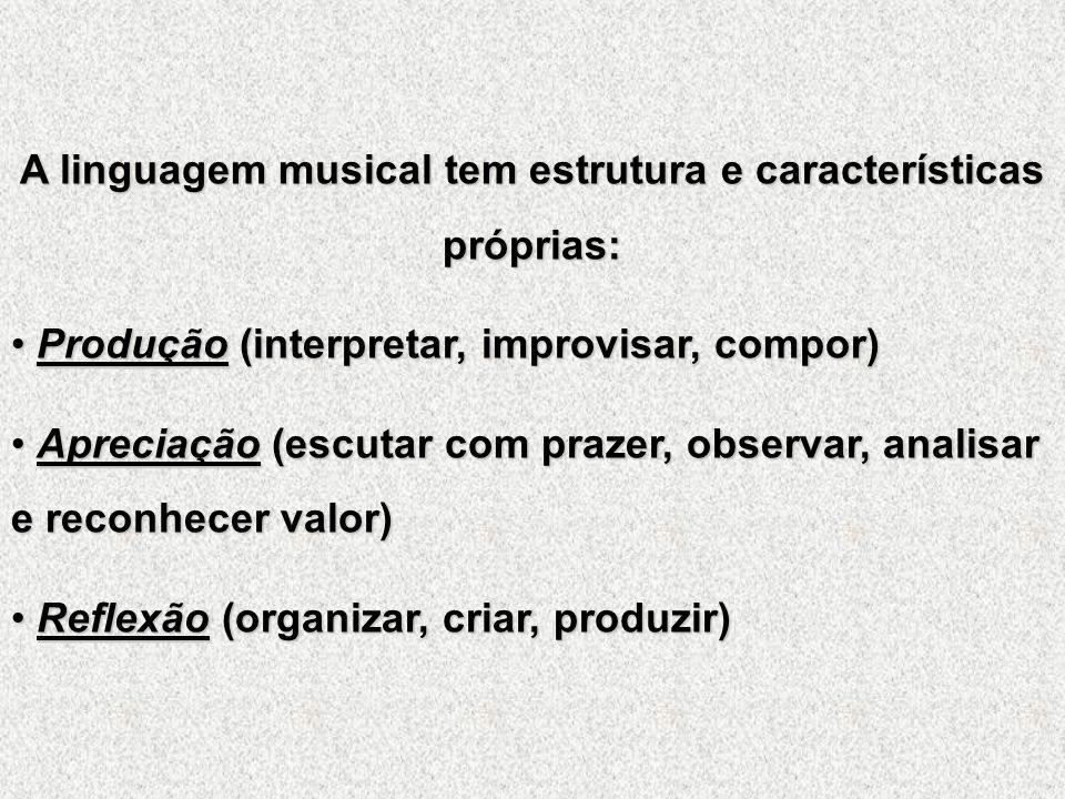 A linguagem musical tem estrutura e características próprias: