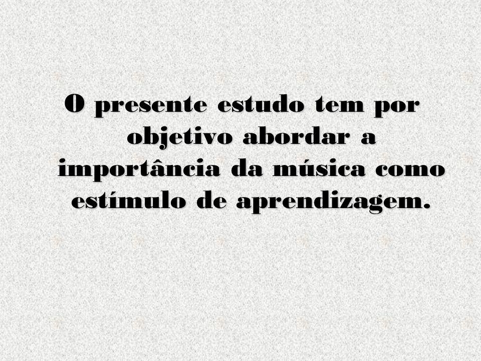 O presente estudo tem por objetivo abordar a importância da música como estímulo de aprendizagem.