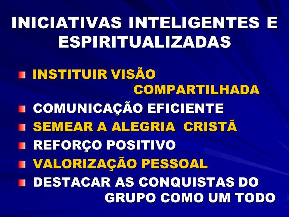 INICIATIVAS INTELIGENTES E ESPIRITUALIZADAS