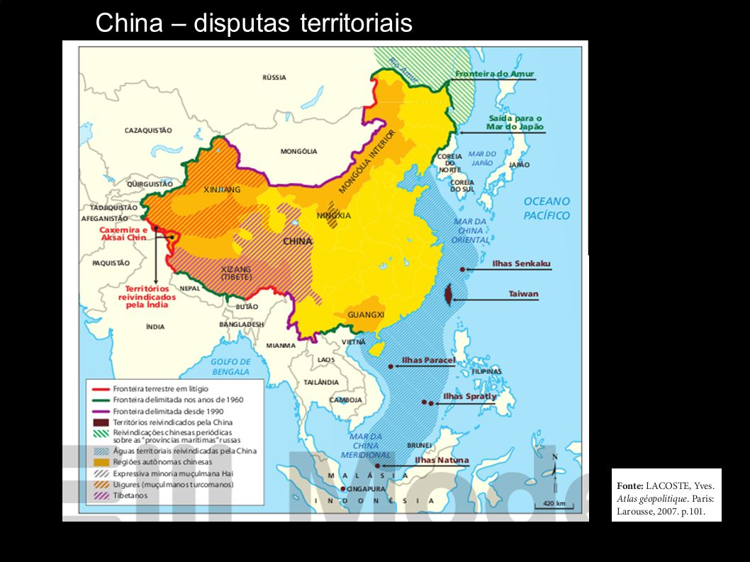 China – disputas territoriais