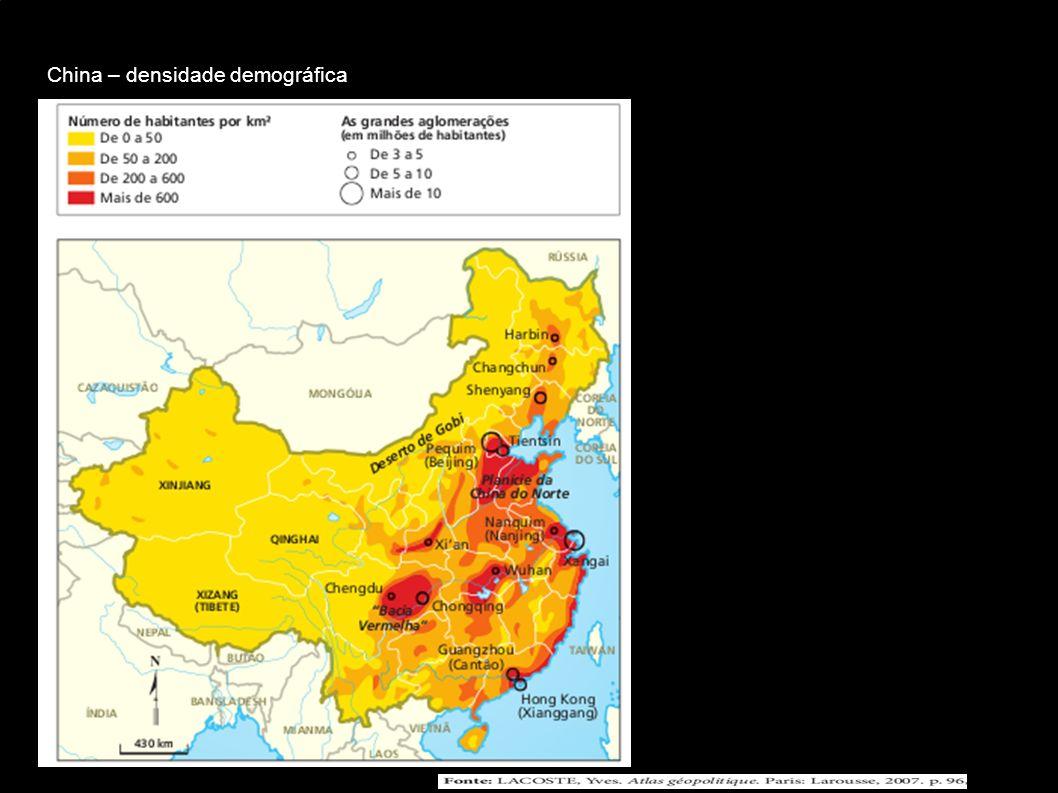 China – densidade demográfica