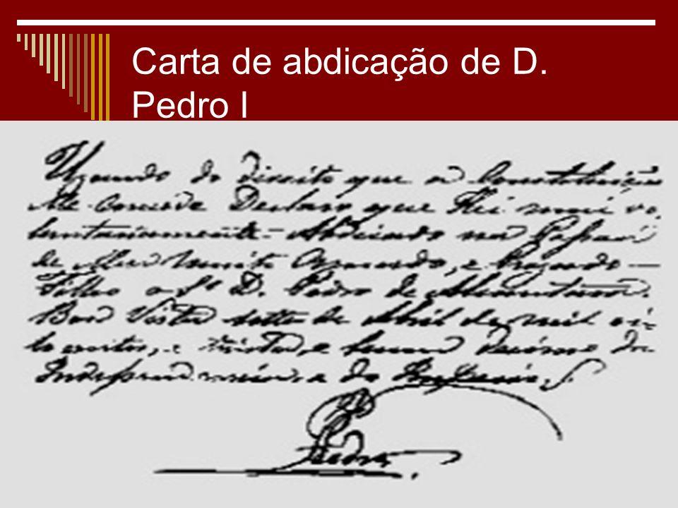 Carta de abdicação de D. Pedro I