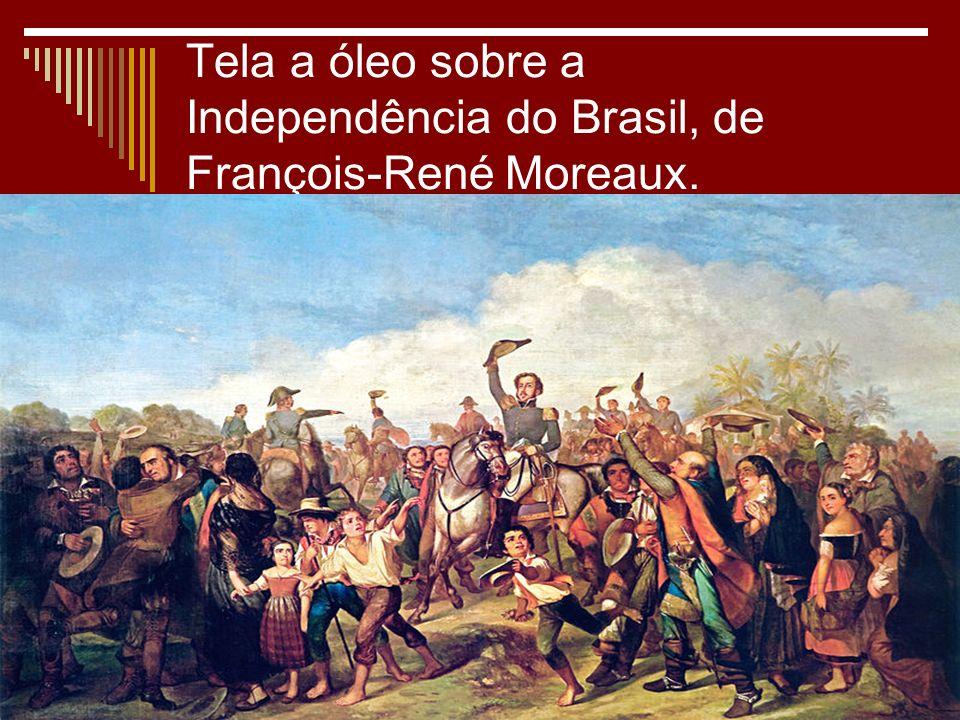 Tela a óleo sobre a Independência do Brasil, de François-René Moreaux.