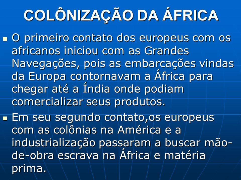 COLÔNIZAÇÃO DA ÁFRICA