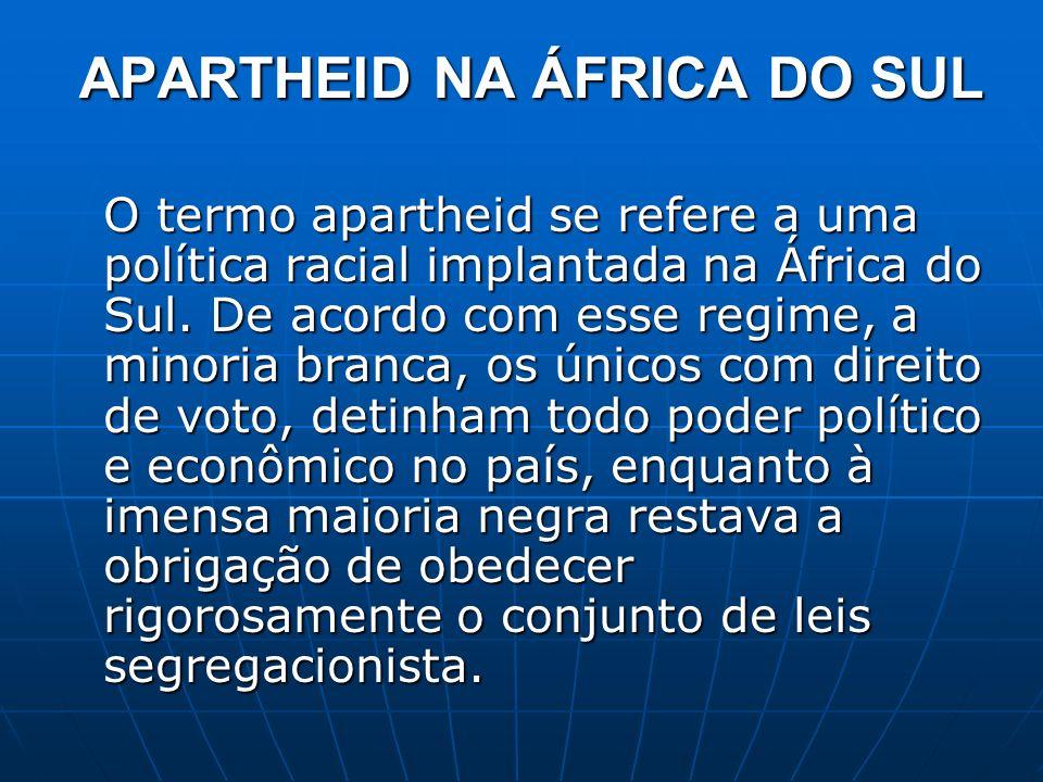 APARTHEID NA ÁFRICA DO SUL