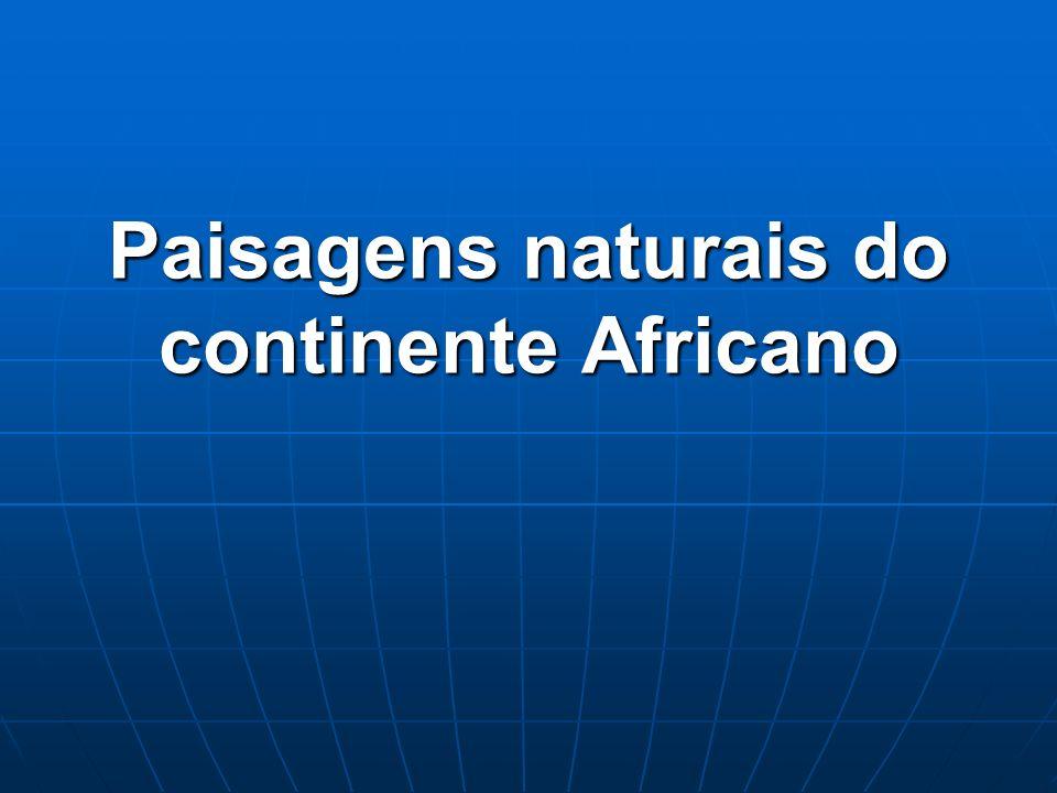 Paisagens naturais do continente Africano