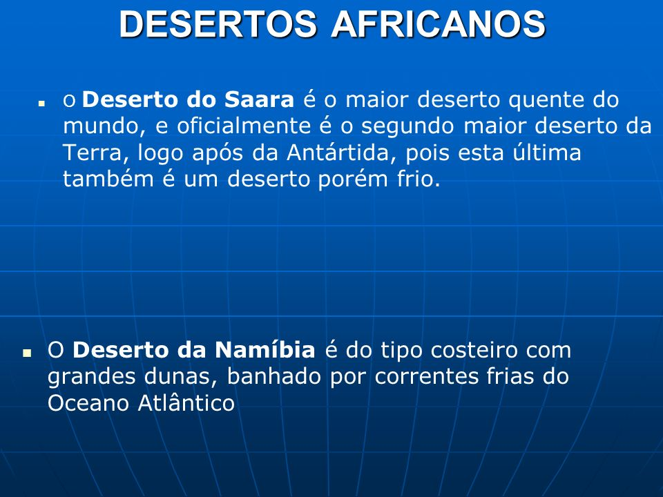 DESERTOS AFRICANOS
