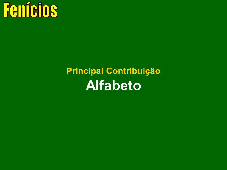 Fenícios Principal Contribuição Alfabeto
