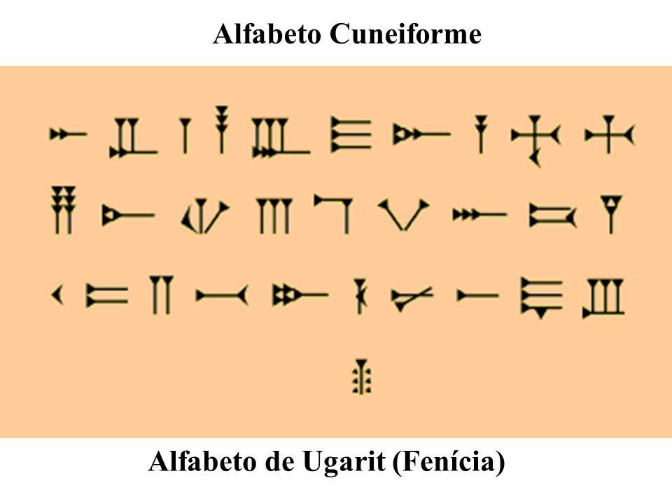 Alfabeto Cuneiforme Alfabeto de Ugarit (Fenícia)