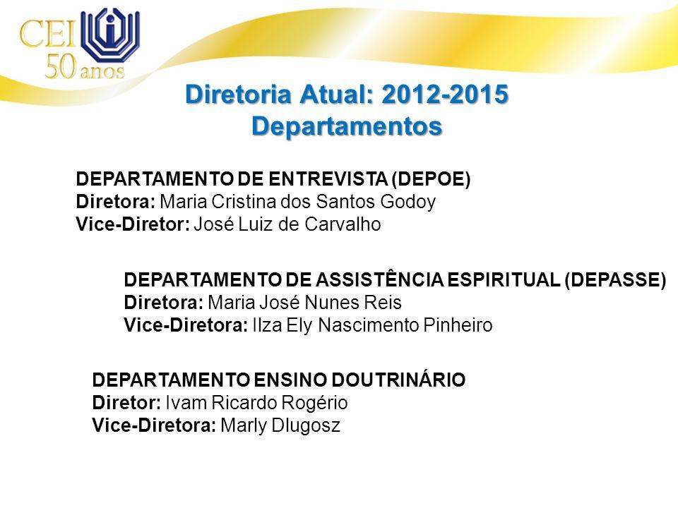 Diretoria Atual: 2012-2015 Departamentos