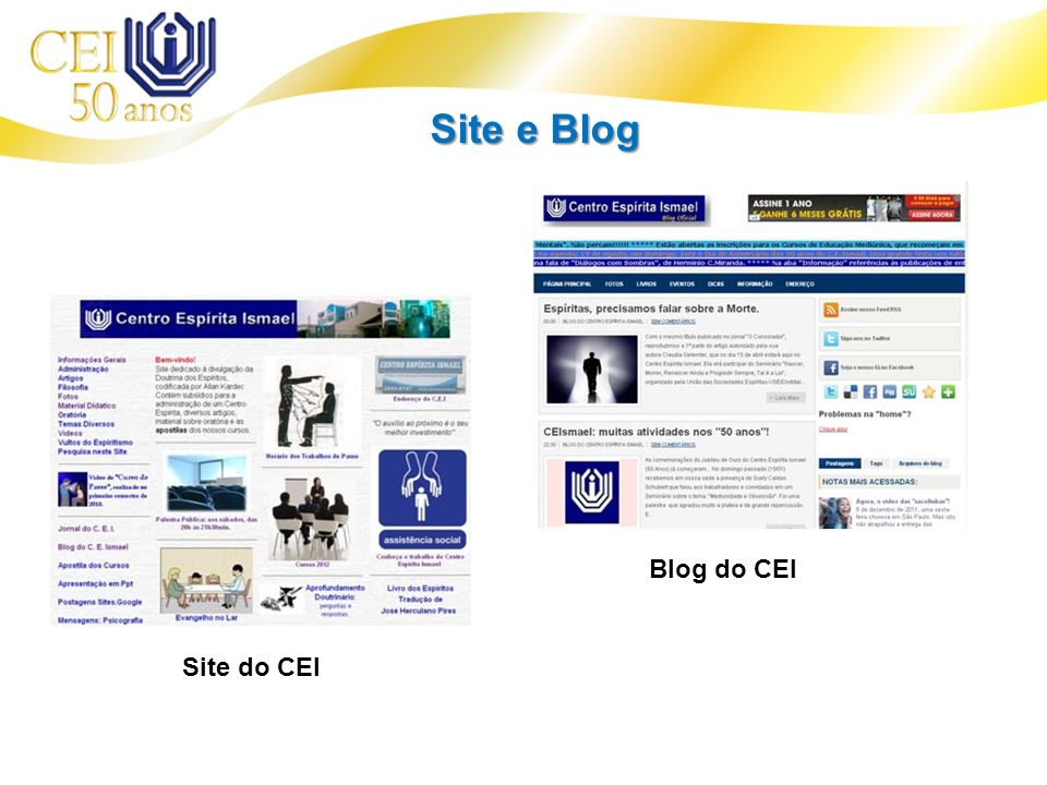 Site e Blog Blog do CEI Site do CEI