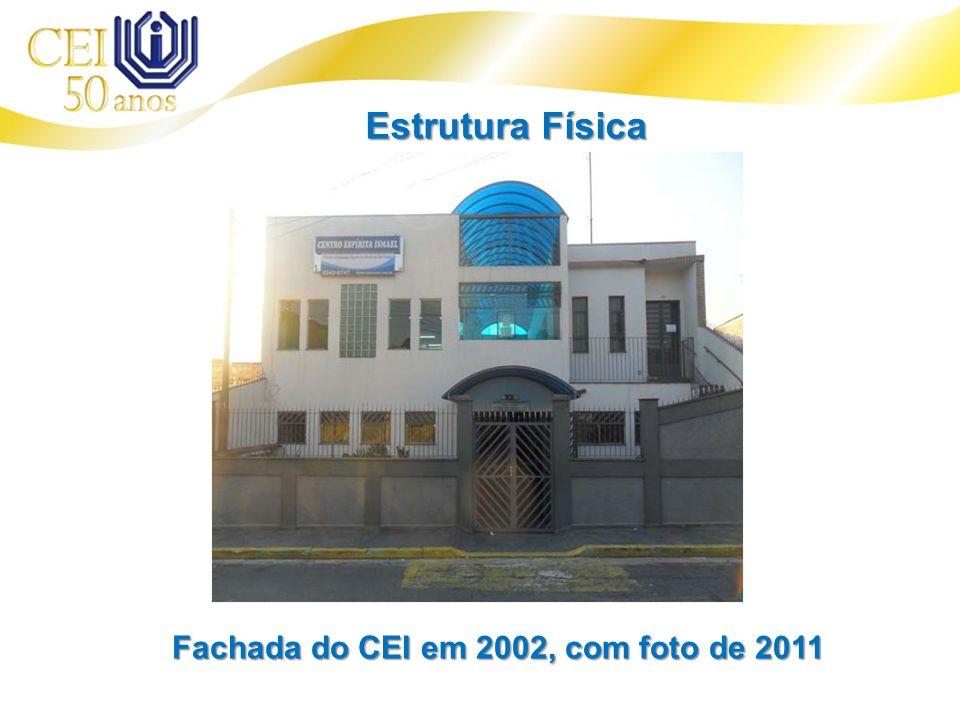 Fachada do CEI em 2002, com foto de 2011