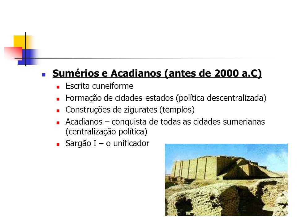 Sumérios e Acadianos (antes de 2000 a.C)