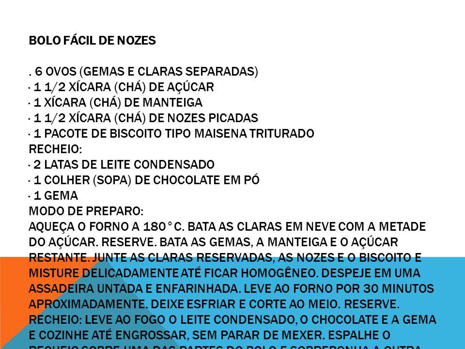 BOLO FÁCIL DE NOZES .