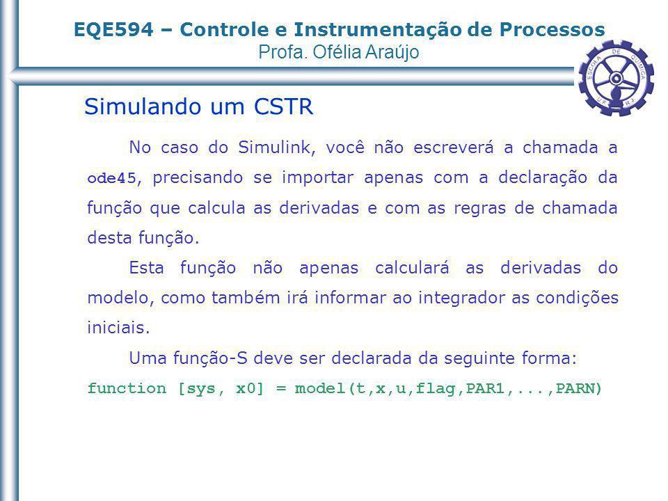 Simulando um CSTR