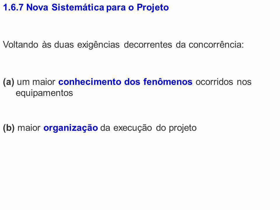 1.6.7 Nova Sistemática para o Projeto