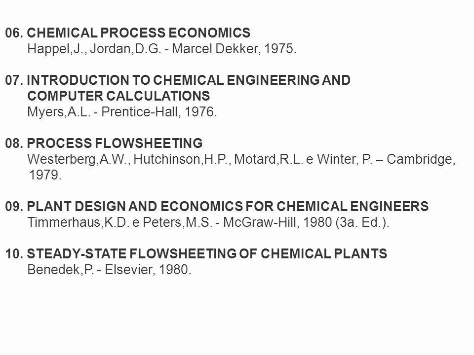 06. CHEMICAL PROCESS ECONOMICS