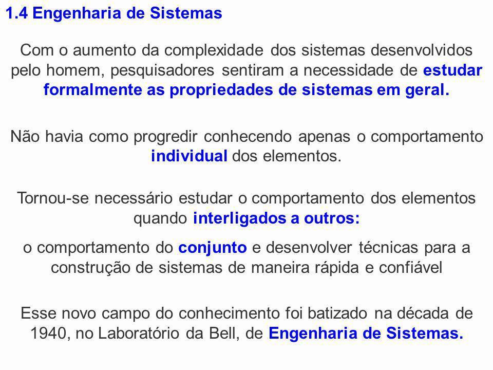 1.4 Engenharia de Sistemas