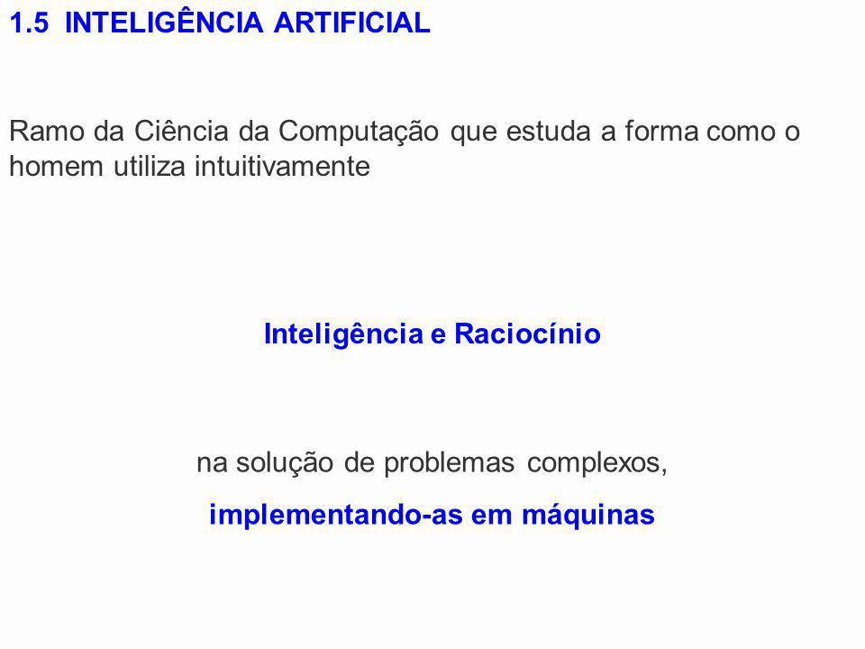 Inteligência e Raciocínio implementando-as em máquinas