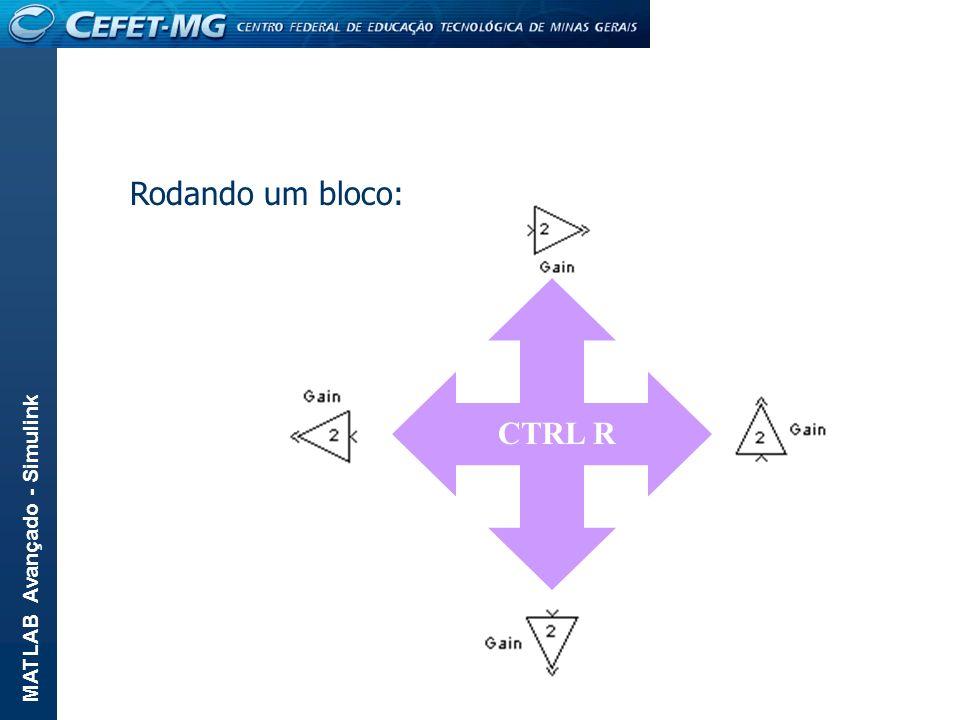 CTRL R Rodando um bloco: