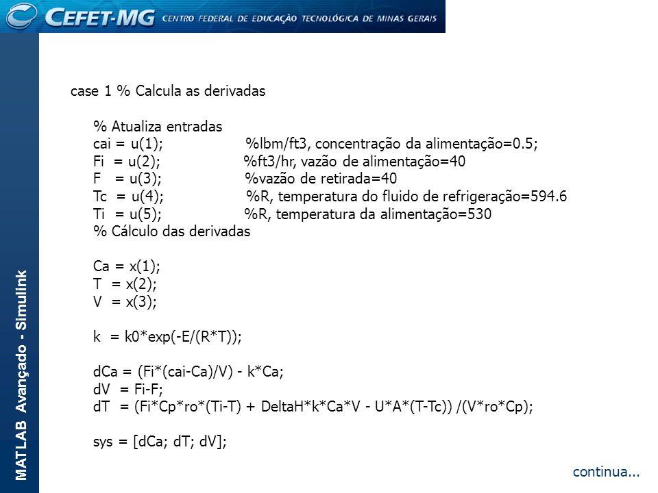 case 1 % Calcula as derivadas