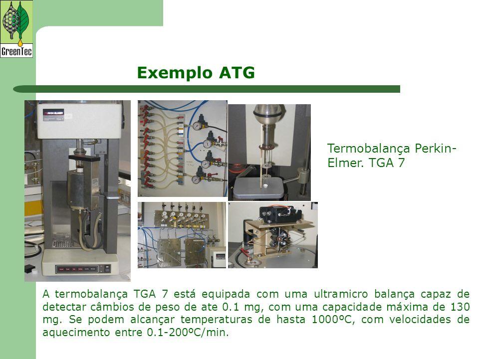 Exemplo ATG Termobalança Perkin-Elmer. TGA 7