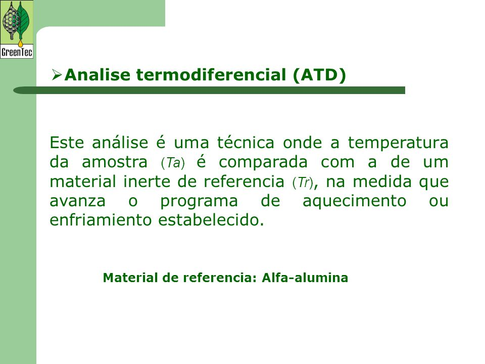 Analise termodiferencial (ATD)