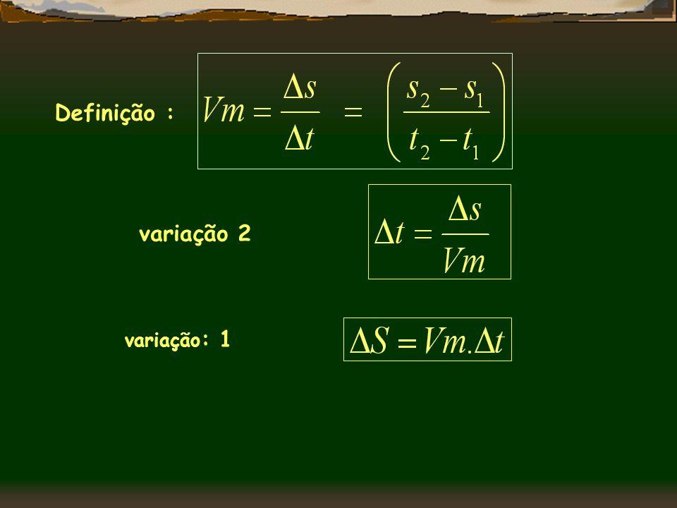 Definição : variação 2 variação: 1