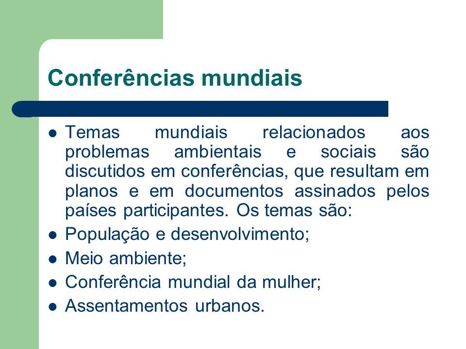 Conferências mundiais