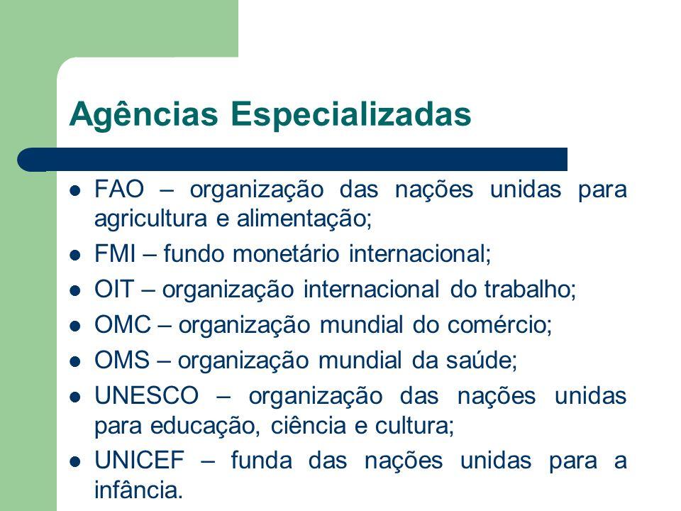 Agências Especializadas