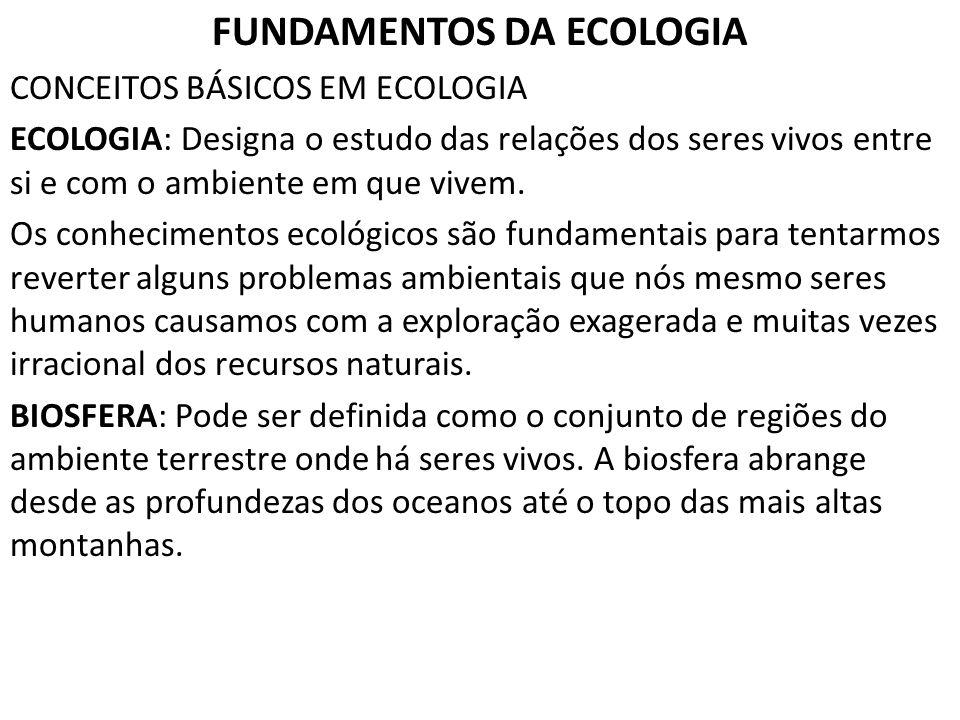 FUNDAMENTOS DA ECOLOGIA
