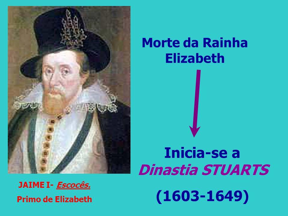 Morte da Rainha Elizabeth Inicia-se a Dinastia STUARTS