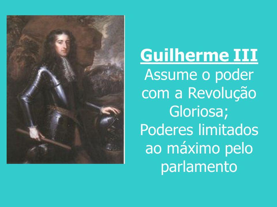 Guilherme III Assume o poder com a Revolução Gloriosa;