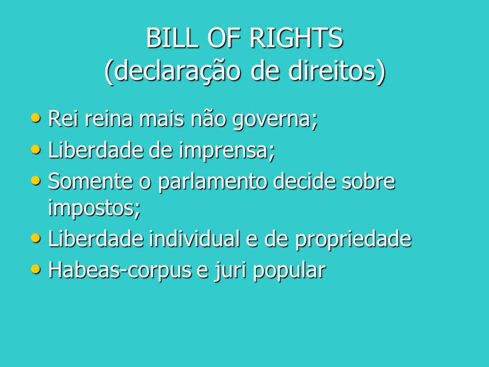 BILL OF RIGHTS (declaração de direitos)