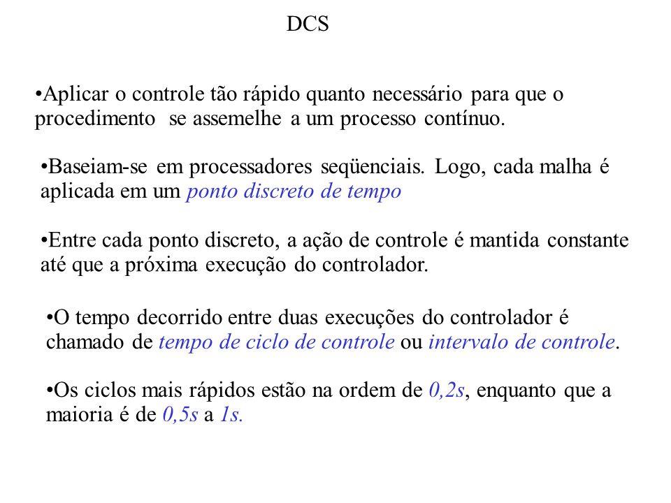 DCS Aplicar o controle tão rápido quanto necessário para que o procedimento se assemelhe a um processo contínuo.