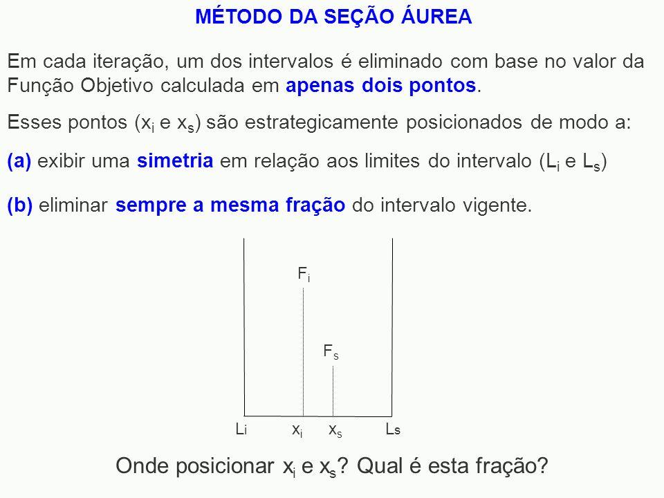 Onde posicionar xi e xs Qual é esta fração