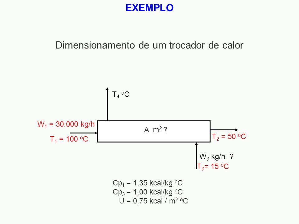 Dimensionamento de um trocador de calor