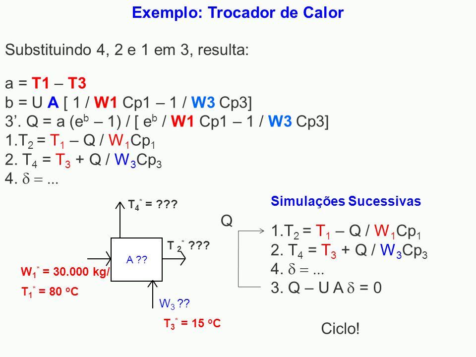Exemplo: Trocador de Calor