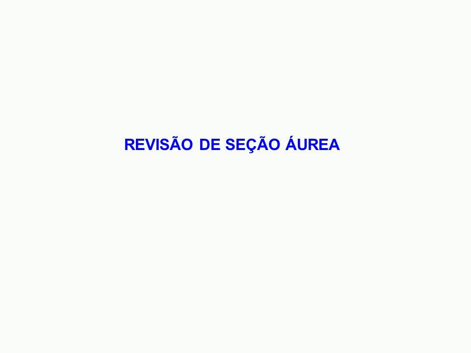 REVISÃO DE SEÇÃO ÁUREA