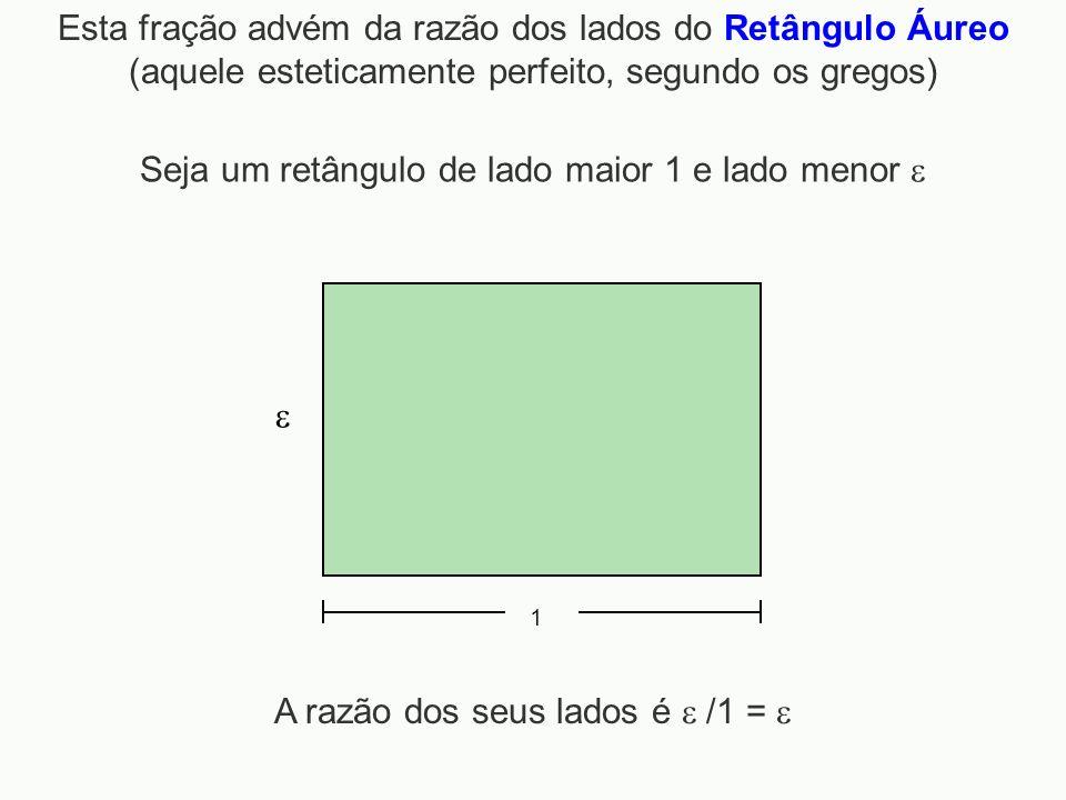 Seja um retângulo de lado maior 1 e lado menor 