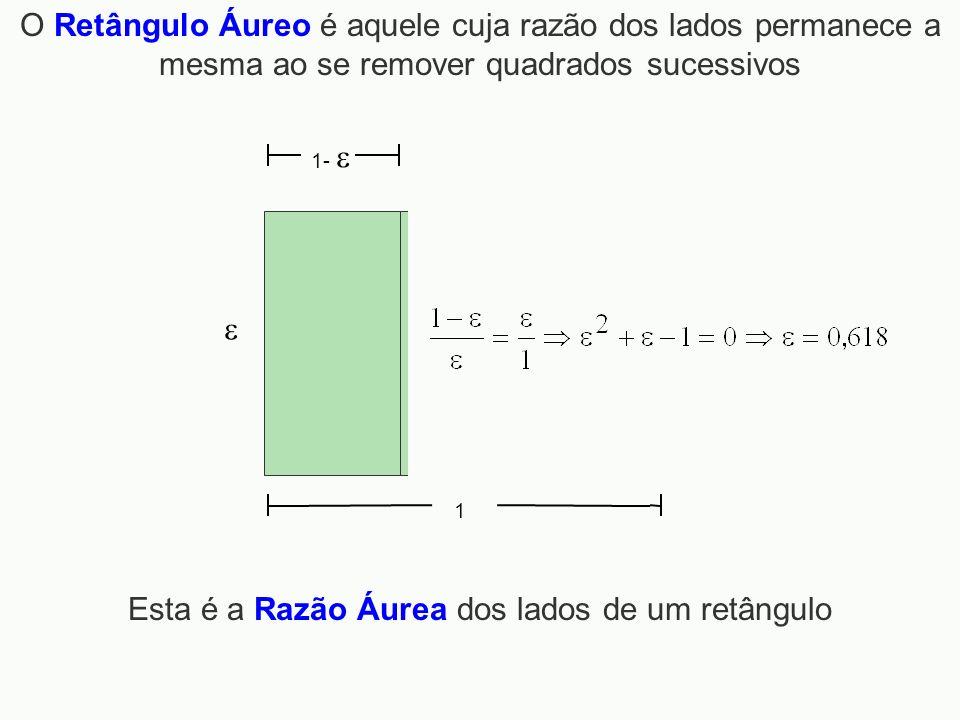 Esta é a Razão Áurea dos lados de um retângulo