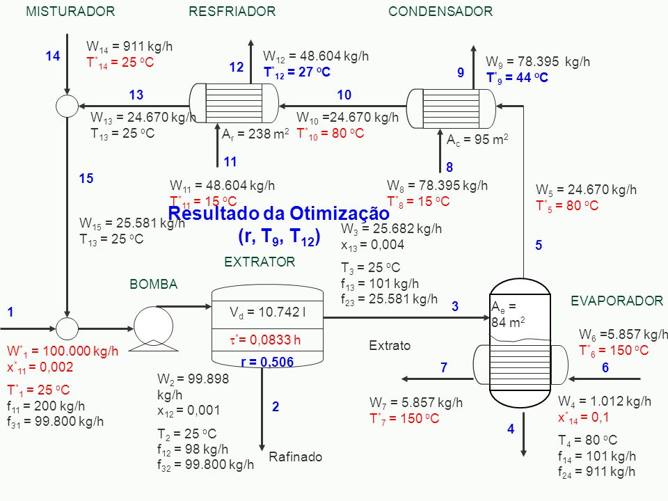 Resultado da Otimização (r, T9, T12)