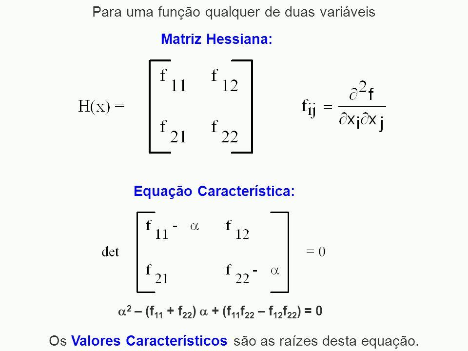 Para uma função qualquer de duas variáveis