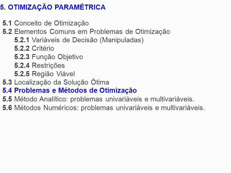 5. OTIMIZAÇÃO PARAMÉTRICA