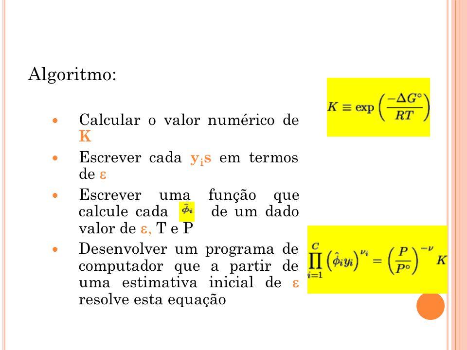Algoritmo: Calcular o valor numérico de K